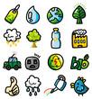 hand draw cartoon eco icons