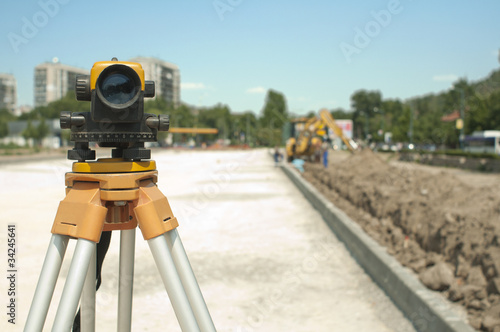 Surveying equipment to infrastructure construction project - 34245641