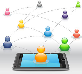 Social Media Network on Smartphone