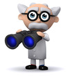 3d Mad Scientist and binoculars