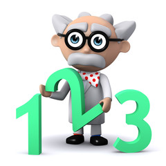3d Mad Scientist has a number 2