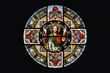 Segnender Jesus Christus Glasfenster