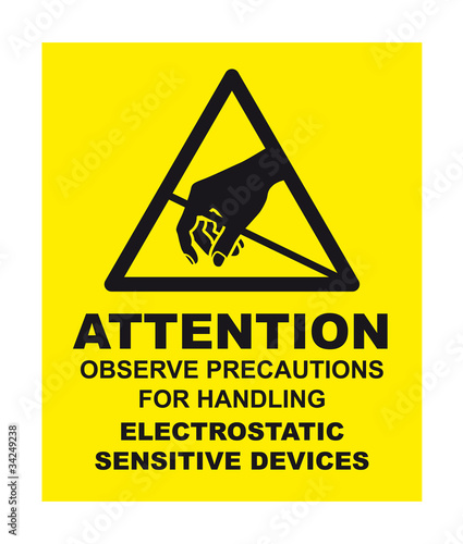 Anti-Static Warning Label