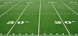 Fototapety Twenty and Thirty Yard Line on American Football Field