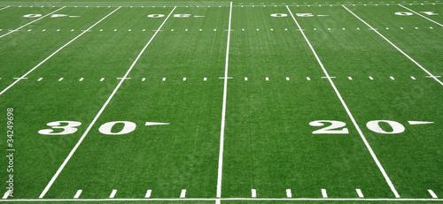 Zdjęcia na płótnie, fototapety, obrazy : Twenty and Thirty Yard Line on American Football Field