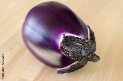 Eggplant on a wooden background