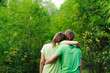 Loving couple in nature