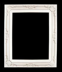 cadre blanc de style baroque