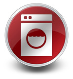 "Red Glossy Icon ""Laundromat"""