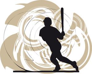 baseball player. Vector illustration