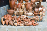 Clay pots and amphoras in Nesebar, Bulgaria