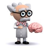 3d Mad Scientist studies your brain