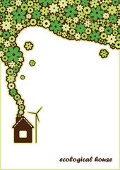 vector background ecological house