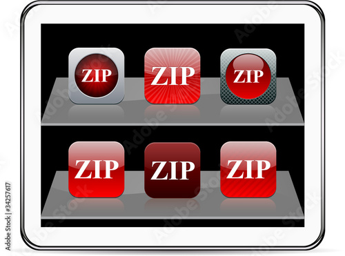 ZIP red app icons.