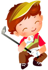 Boy with Golf