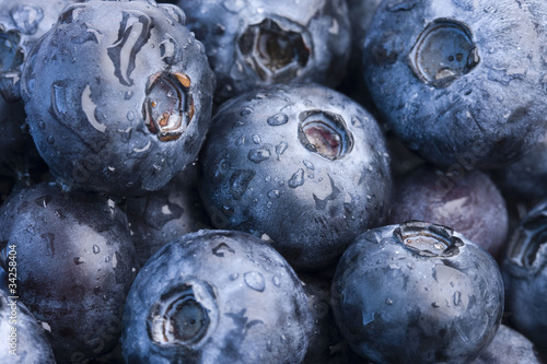 Closeup of fresh blueberries
