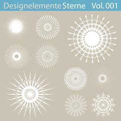 Designelemente Sterne 001