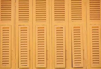 thai old style wood windows