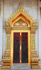 Carved Wood Door in Thai style