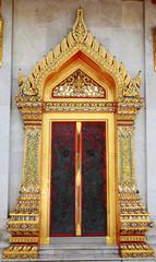 Carved Wood Door in Thai style