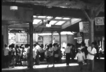 Old 8mm damaged film local station Japan