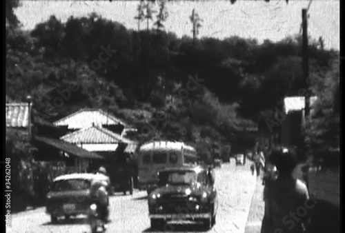 Old 8mm damaged film local town Japan