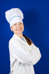 Portrait of senior female cook