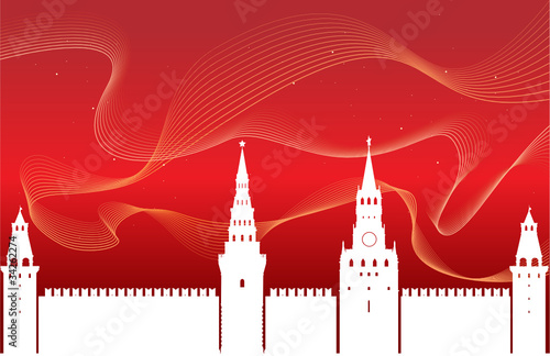 The silhouette of the Kremlin