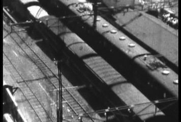1950's damaged 8mm film Train Shibuya Tokyo Japan 5
