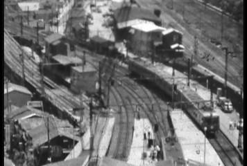 1950's damaged 8mm film Train Shibuya Tokyo Japan 6