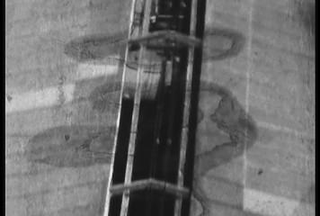 1950's damaged 8mm film Train Shibuya Tokyo Japan 7