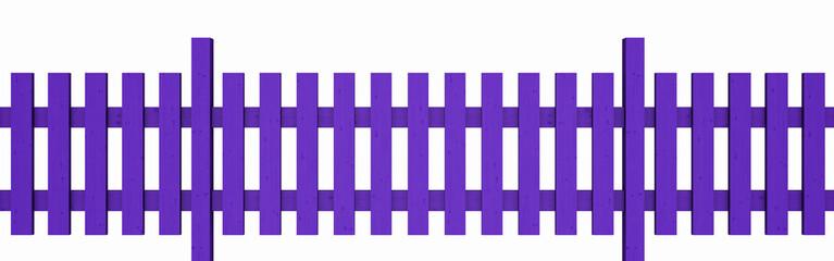 3D Holzzaun - violett freigestellt 01