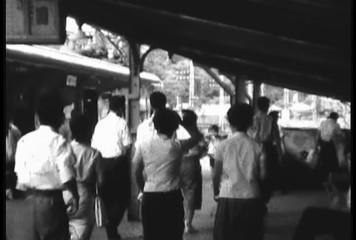 1950's damaged 8mm film Train Shibuya Tokyo Japan 11
