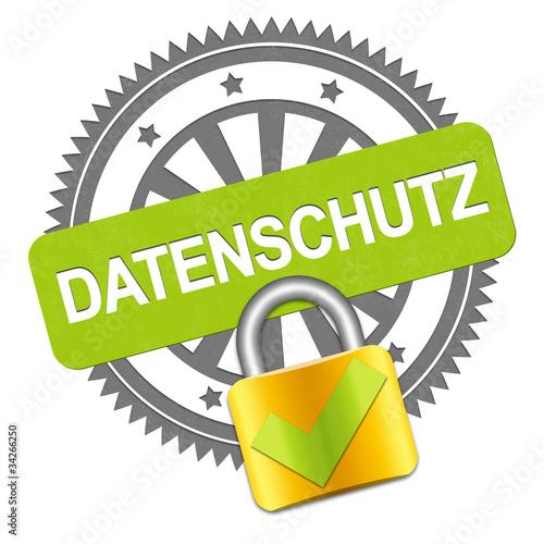 Datenschutz Stempel + Sicherheitsschloss