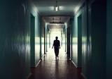 Fototapety silhouette in a corridor