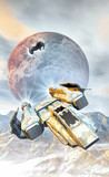spaceship fighters and mountainis