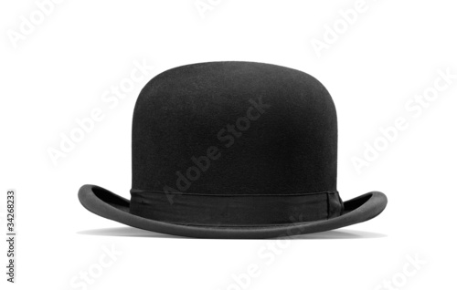 a bowler hat isolated on a white background - 34268233