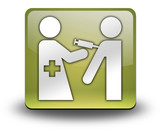 "Yellow 3D Effect Icon ""Immunizations"""