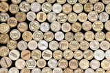 Fototapety Background of wine corks