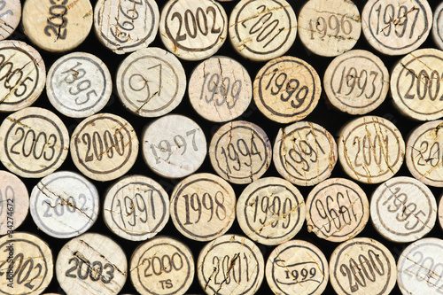Background of wine corks