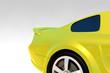 Tuned yellow car detail Render
