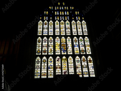 Poster Window in westminster Hall In Houses of Parliament London