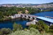 Miño river reservoir in Orense, Galicia, Spain