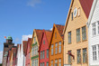 Bergen, Norway - Bryggen street, listed by UNESCO