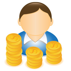 MAN MONEY DOLLAR ICON