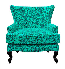 green sofa isolated