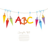 Fototapety First Day Of School ABC & Coloured Cones