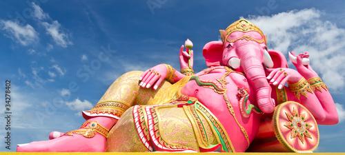 Pink ganecha statue