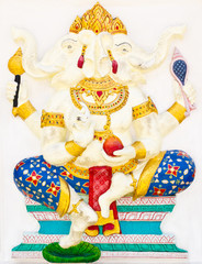 Indian or Hindu God Named Dwimukha Ganapati
