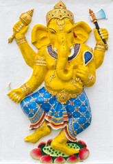 Indian or Hindu God Named Naritaya Ganapati